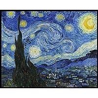 Quadro Decorativo 'A Noite Estrelada' Vincent Van Gogh 40x50cm Canvas com Moldura