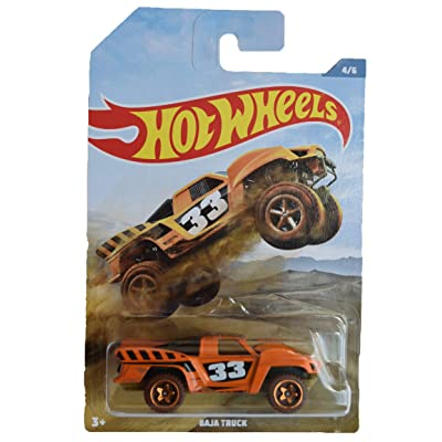 Hot Wheels Baja Truck 4/6, Orange: Toys & Games