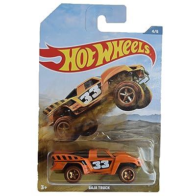 Hot Wheels Baja Truck 4/6, Orange: Toys & Games