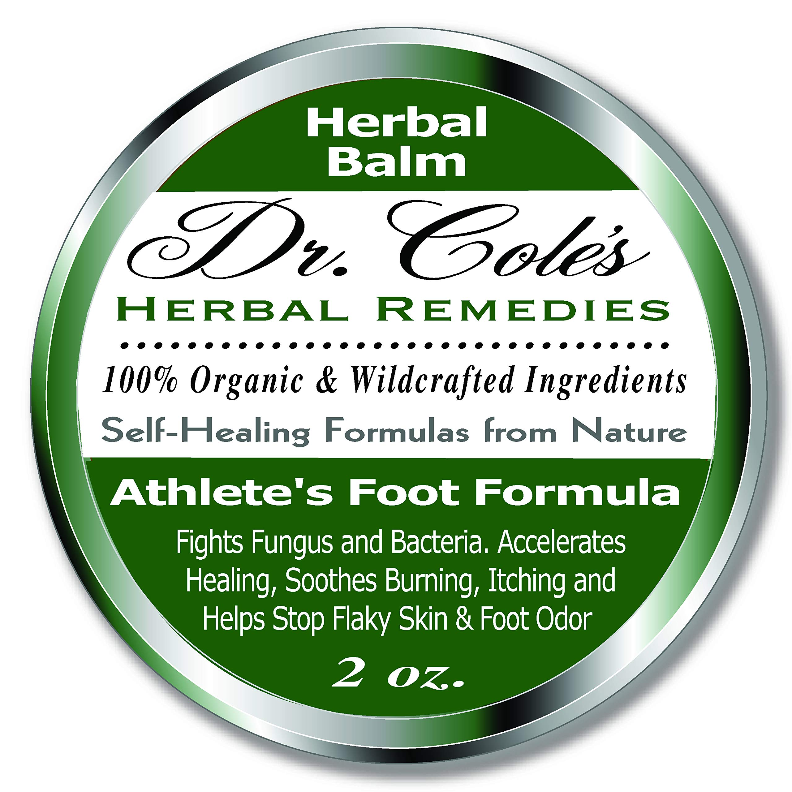Dr. Cole's Organic Athlete's Foot Treatment - Extra Strength, Natural, Anti-fungal Herbal Remedy Ointment That Kills Fungus - Soothes Itchy, Scaly or Cracked Feet Sanitizes Fungus & Infected Toenails by Dr. Cole's Herbal Remedies