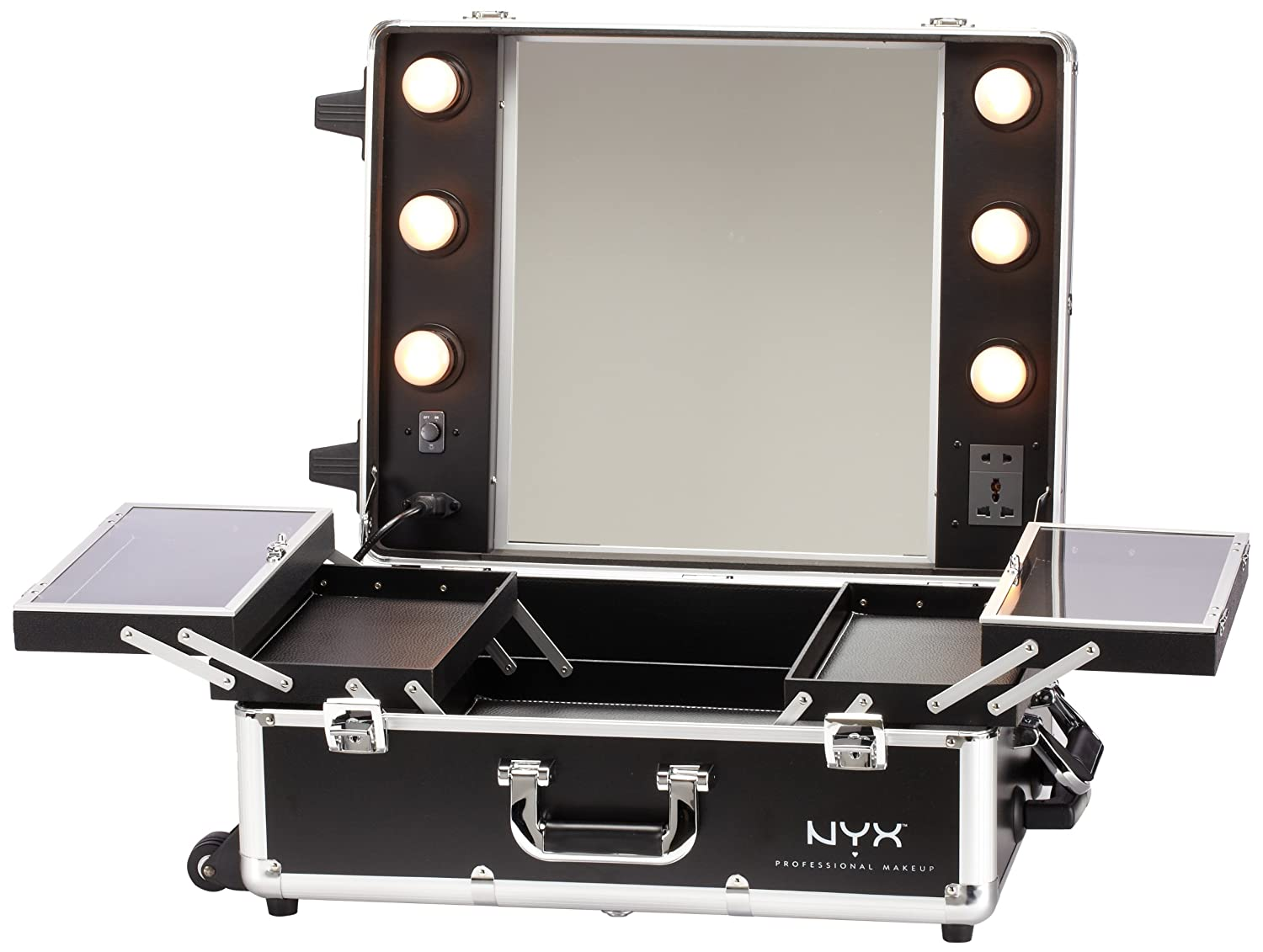 Superior Amazon.com: NYX Makeup Artist Train Case With Lights, Extra Large  Black/Silver, 1 Ounce: Luxury Beauty