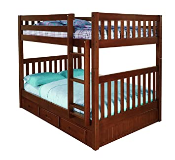 Amazon Com Discovery World Furniture Full Over Full Bunk Bed With 3