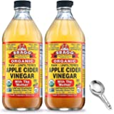 Bragg Organic Apple Cider Vinegar With the Mother– USDA Certified Organic – Raw, Unfiltered All Natural Ingredients, 16…