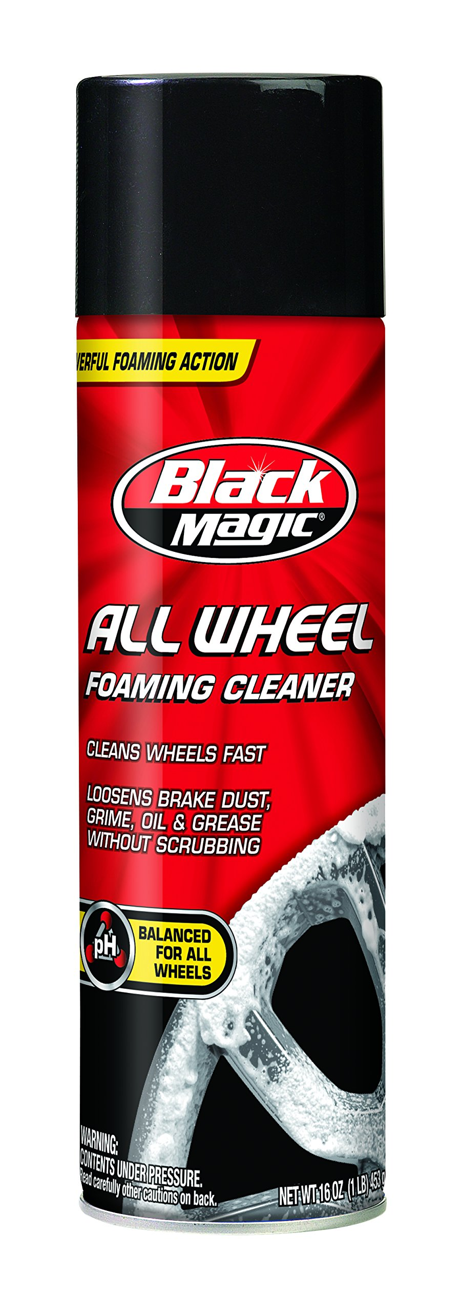 Black Magic 120009-6PK Foaming All Wheel Cleaner, 16 oz. (Pack of 6)