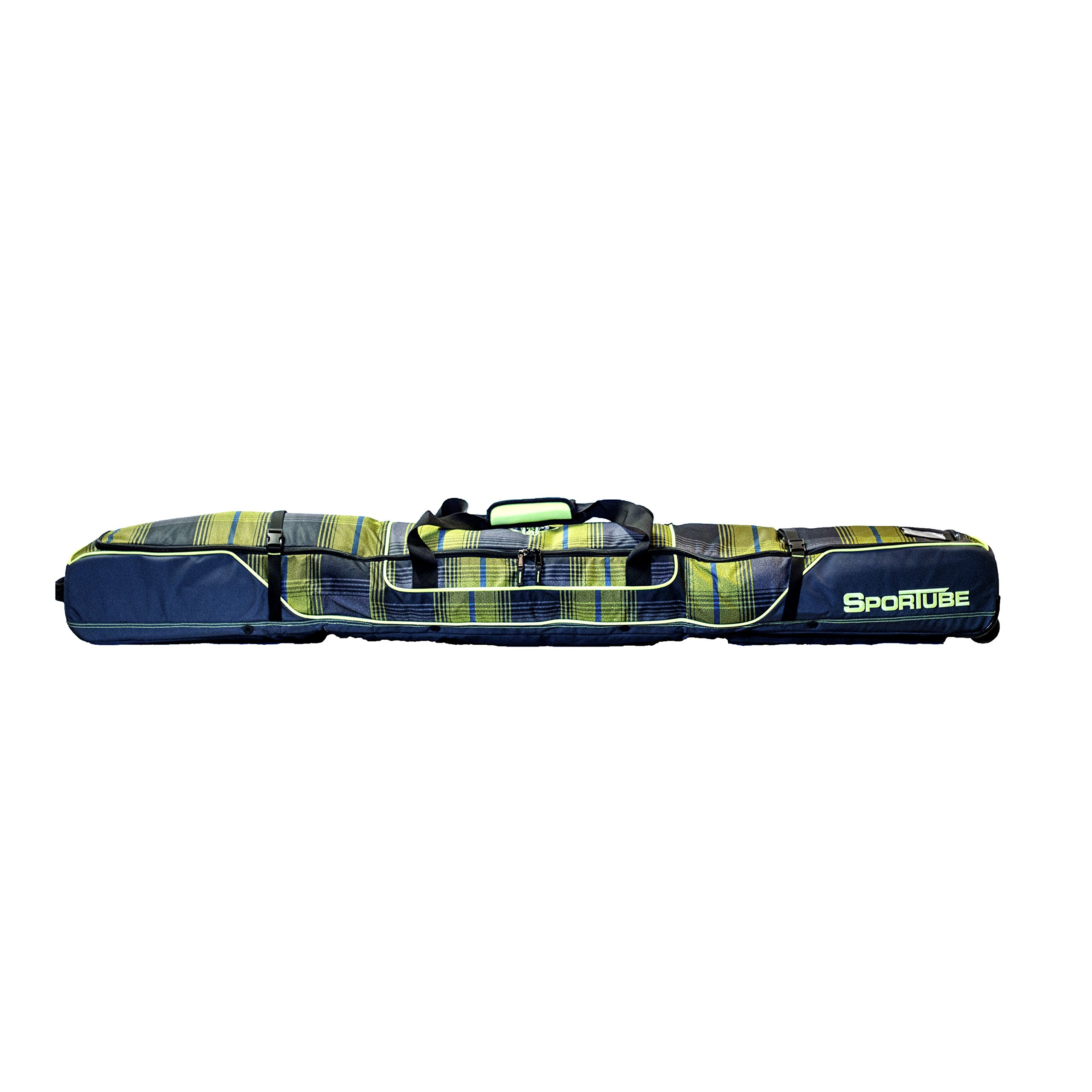 Sportube Ski shield Double Padded Ski Bag with Gear shield Plaid