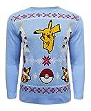 GIRLY LOOK ® Kids Boys Girls Children Xmas Pokemon Christmas Jumper Knitted Dancing Pikachu 7-12 Years