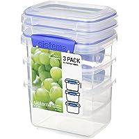 Sistema Klip It Rectangular Food Storage Container, Clear