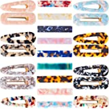 23 Pieces Acrylic Hair Clips Resin Hairpins Marble Rectangle Clips Duckbill Alligator Barrettes for Women