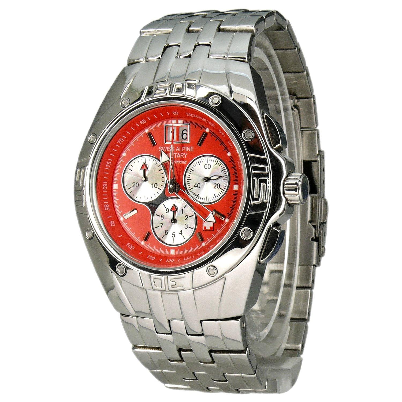 Swiss Alpine Military Herren-Armbanduhr XL EL290 Chronograph Edelstahl 2901.9136SAM