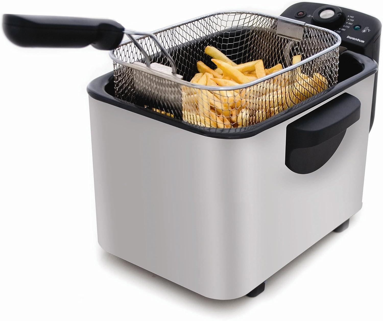 Inventum GF535 Cool-Zone Fryer, Negro, Plata, 3000 W - Freidora: Amazon.es: Hogar
