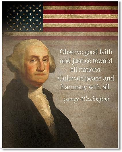 picture regarding Printable Pictures of George Washington titled : Gabbys Determination George Washington quotation Artwork print