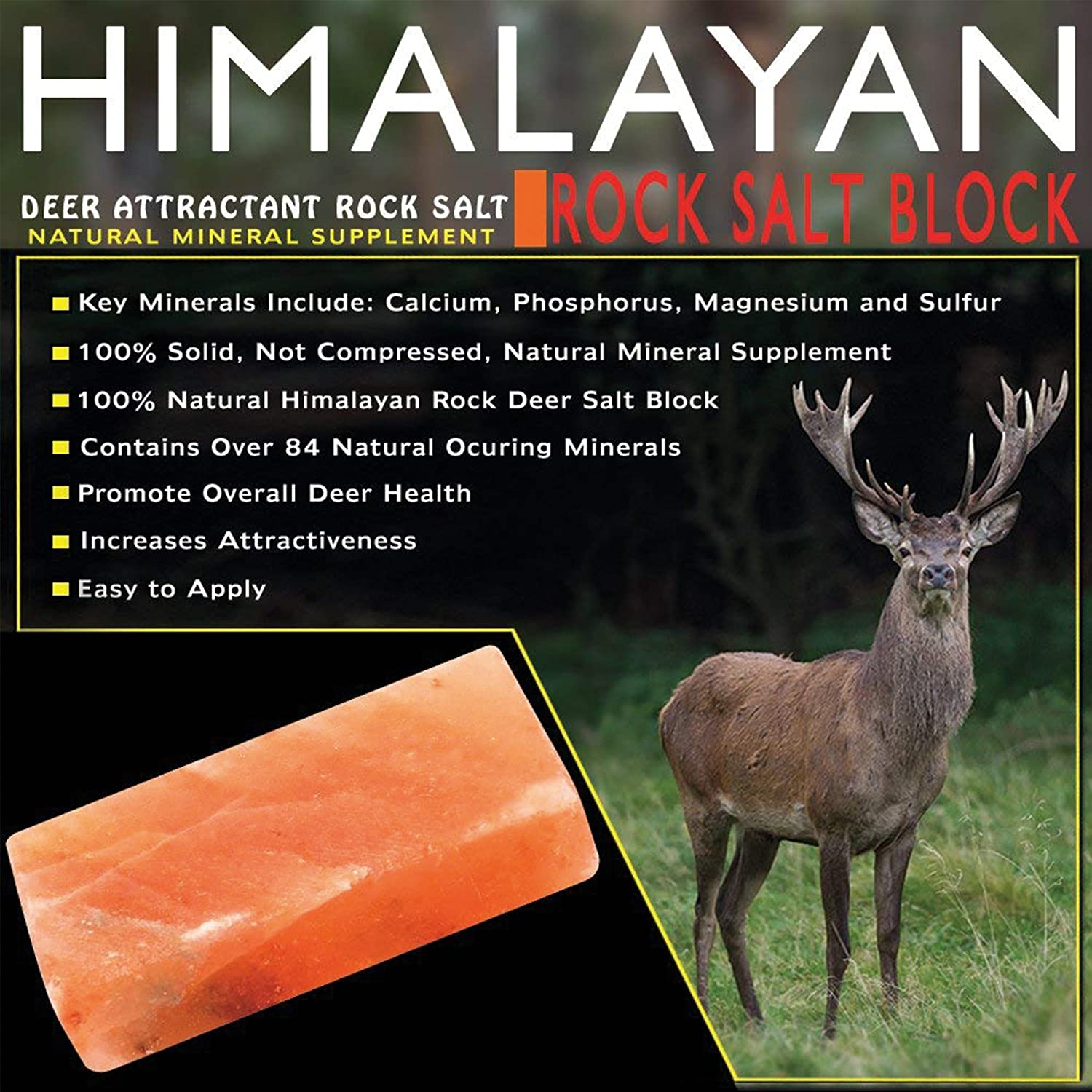 Agree, Mineral rock deer lick are mistaken