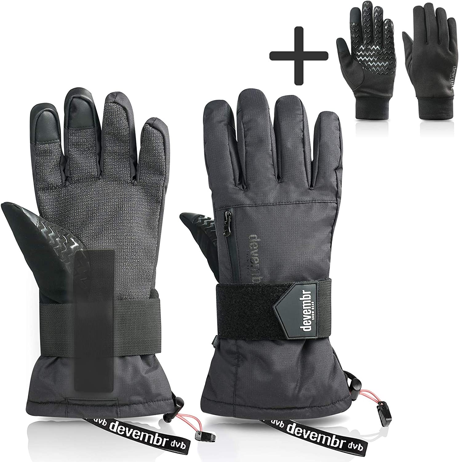 Wrist Protection for Snowboard Gloves One Pair devembr Wrist Guards Ski Gloves