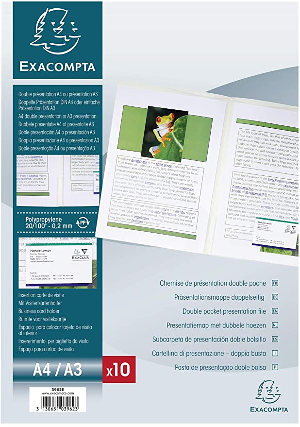 Exacompta 23 X 33 Cm Double Pocket Presentation Folder