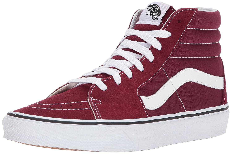 Vans Sk8-Hi Suede/Canvas, Zapatillas para Mujer 42 EU Rojo (Burgundy/True White)