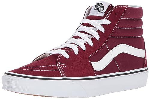 36051509a07 Vans Mens SK8 Hi Burgundy True White Size 11  Amazon.ca  Shoes   Handbags
