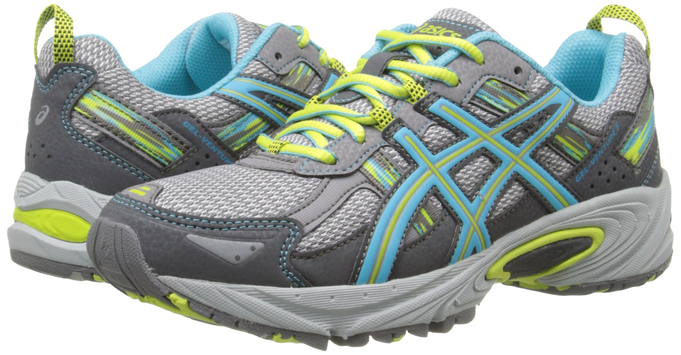ASICS Women's Gel-Venture 5 Running Shoe, Silver Grey/Turquoise/Lime Punch, 6 M US by ASICS (Image #6)