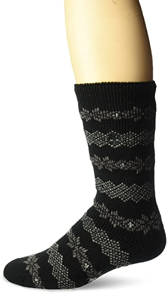 Timberland Men's Cabin Sock Fair Isle, Black, Sock Size: 10-13 ...
