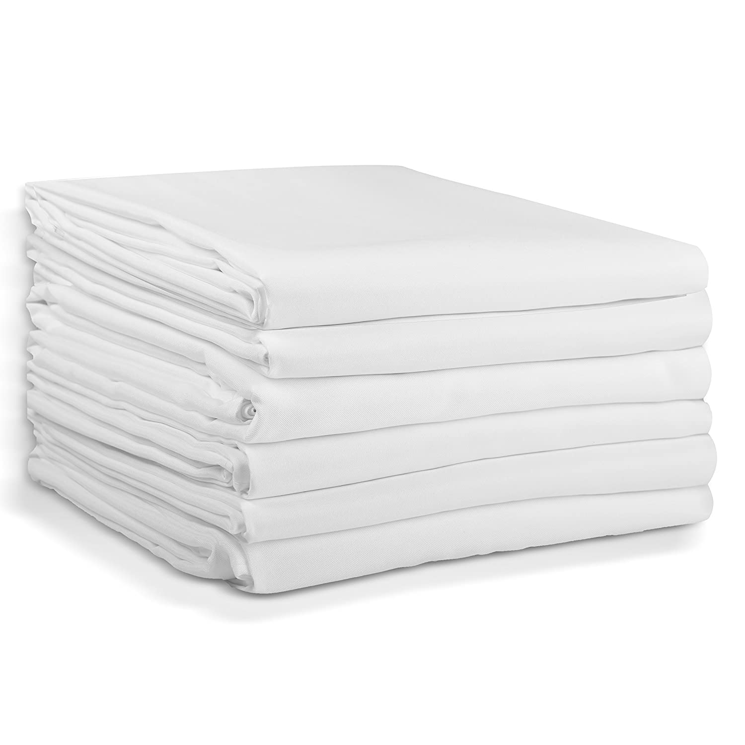 120 Inch Diameter White 100 Polyester Banquet Wedding Party Picnic Circle Table Cloths Emartinc 6 Pack Emart Round Tablecloth Tablecloths Kitchen Table Linens