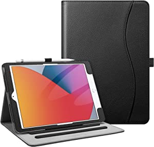 Fintie Case for New iPad 8th Gen (2020) / 7th Generation (2019) 10.2 Inch - [Corner Protection] Multi-Angle Viewing Folio Stand Cover with Pocket, Pencil Holder, Auto Wake/Sleep, Black