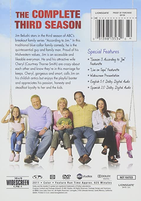 Amazon.com: According To Jim: Season 3: Jim Belushi, Courtney ...