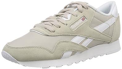Reebok Classic Nylon Neutrals, Sneakers Basses Femme, Gris (Cool Shadow/White), 38 EU