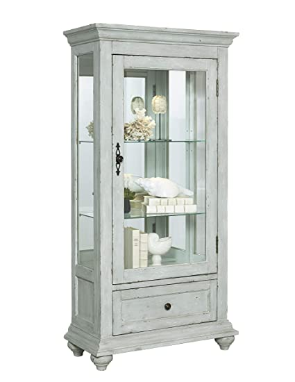 Pulaski Traditional Antique 2 Shelves Curio Display Cabinet With Led Light 30 X 14 X 60 5
