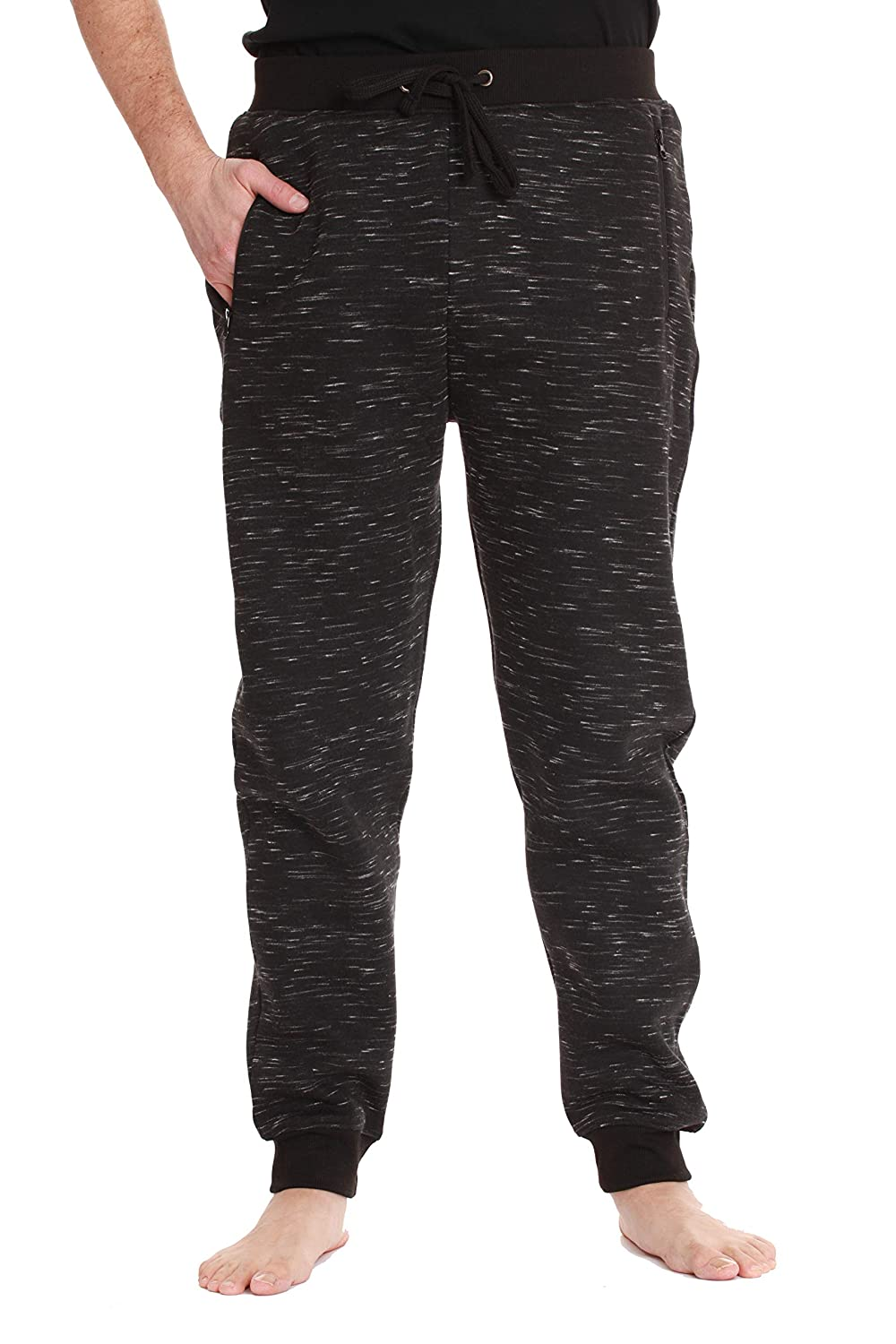 At The Buzzer Fleece Joggers Sweatpants for Men with 3 Zipper Pockets