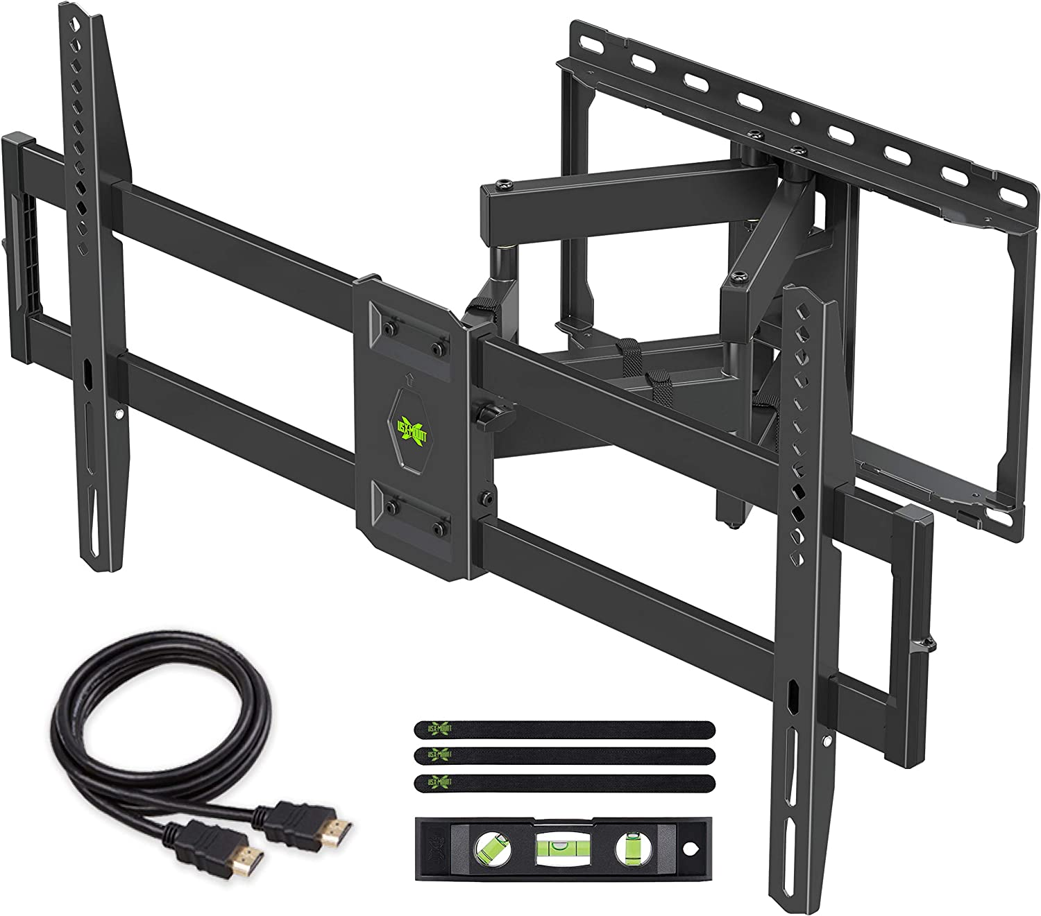 【Newest Version】 USX MOUNT Full Motion TV Wall Mount for Most 47-84 inch Flat Screen/LED/4K TVs, TV Mount Bracket Dual Swivel Articulating Tilt 6 Arms with Max VESA 600x400mm and Holds up to 132lbs 810ygf79GrL