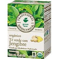 Traditional Medicinals, Té Verde Orgánico Con Jengibre, 24 Gr, 16 Bolsitas De Té