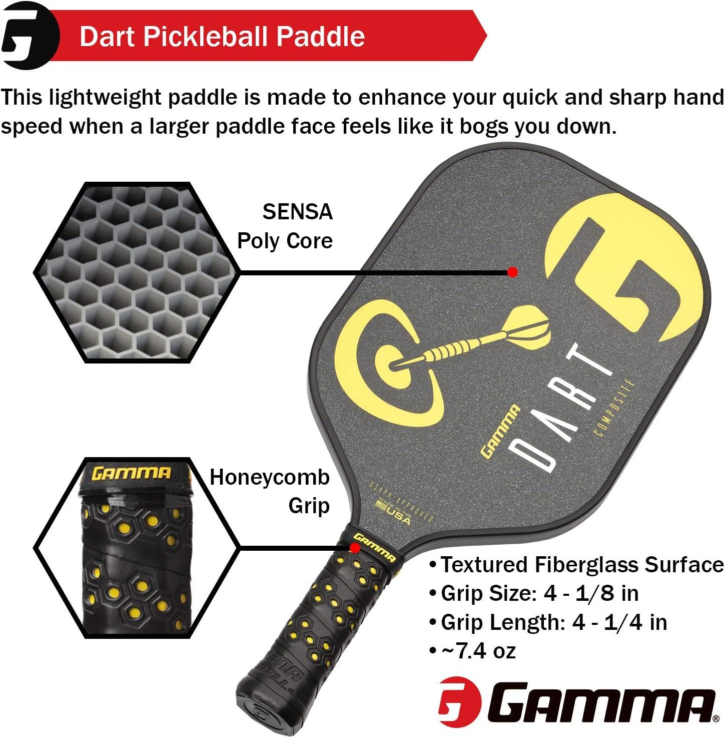 Amazon.com: Pala de Pickleball GAMMA Poly Core: paletas de ...