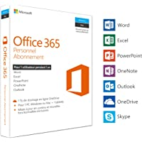 Microsoft Office 365 Personnel | 1 PC Windows ou Mac + 1 tablette | 1 an | Box