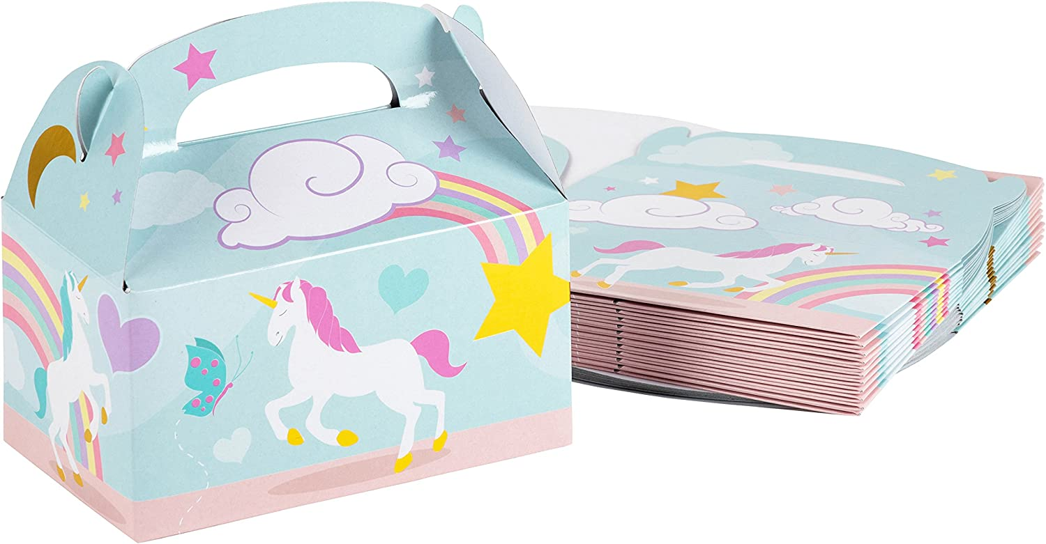 Unicorn Party Favor Boxes for 24 Guests
