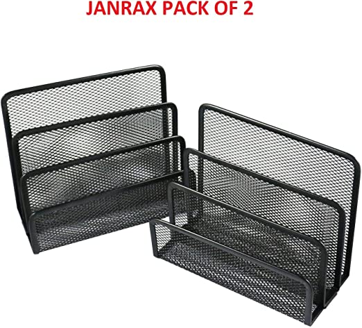 Janrax Pack de 2 clasificadores Negro Malla Letra - Bandeja de ...
