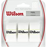 Wilson WRZ4005WH Nastro OverMateriale Grip per Racchetta da Tennis, Bianco (White)