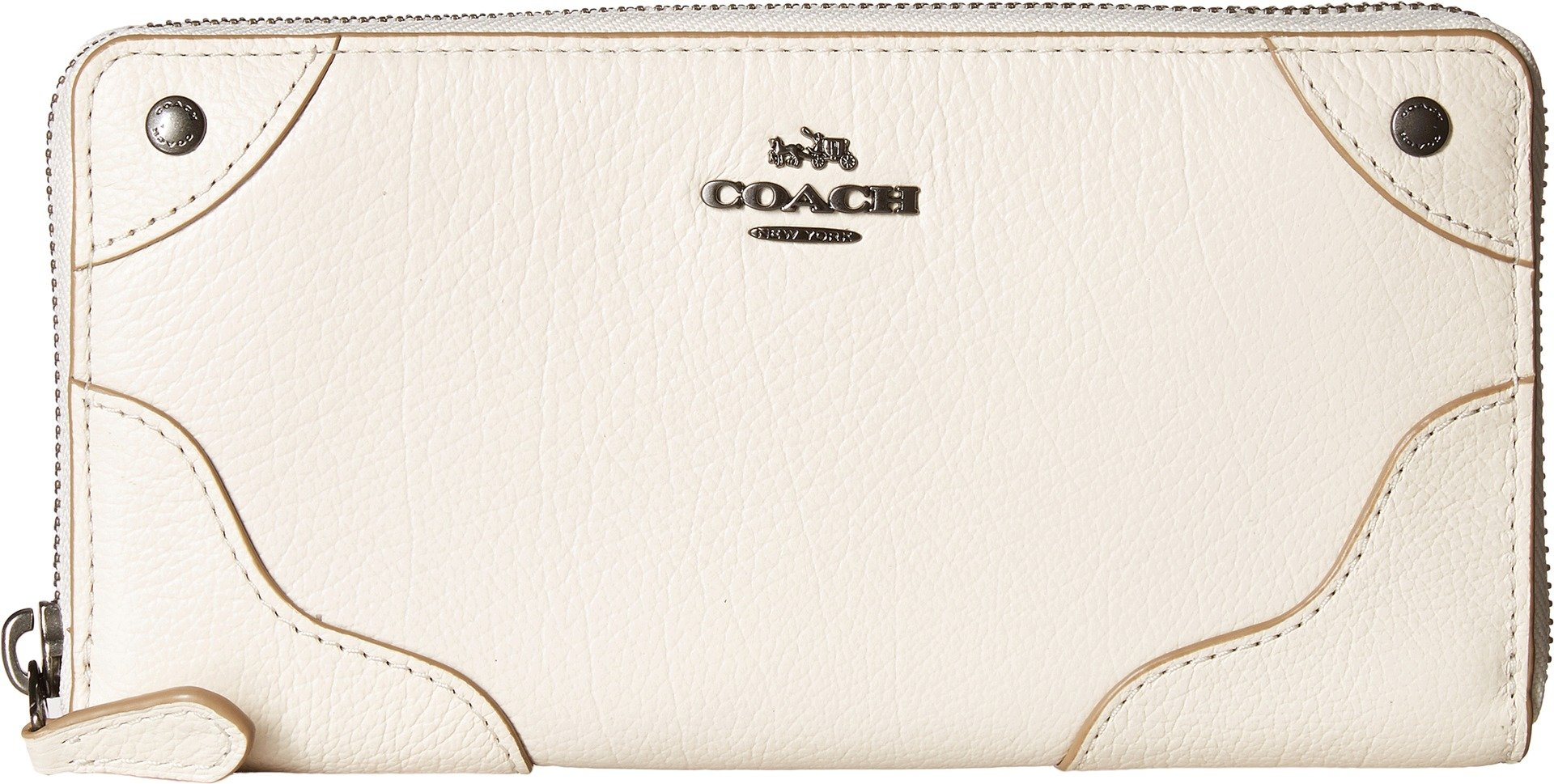 COACH Women's Grain Leather Mickie Wristlet Gunmetal One Size by Coach