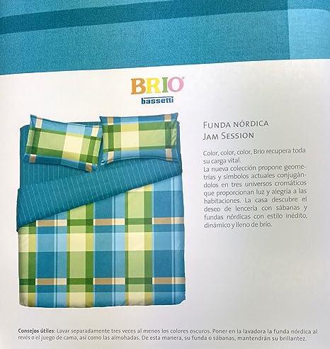 Bassetti Juego de Funda Nórdica James Session Multicolor Cama 150 ...