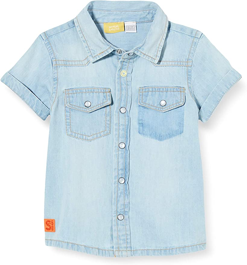 Chicco Camicia Jeans Denim Manica Corta Bimbo Camisa para Beb/és
