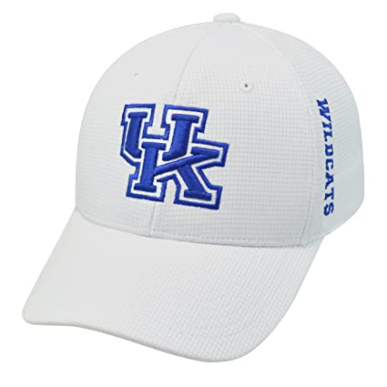 separation shoes 14b69 c77f1 Amazon.com   Top of the World Men s Kentucky Wildcats White Booster Plus  1Fit Flex Hat (OneSize)   Sports   Outdoors