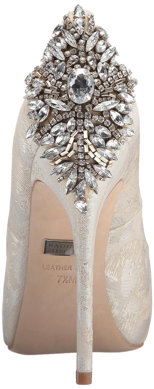 Badgley Mischka Women's Kiara Dress Pump B074828PWR 9 B(M) US|Cream Brocade