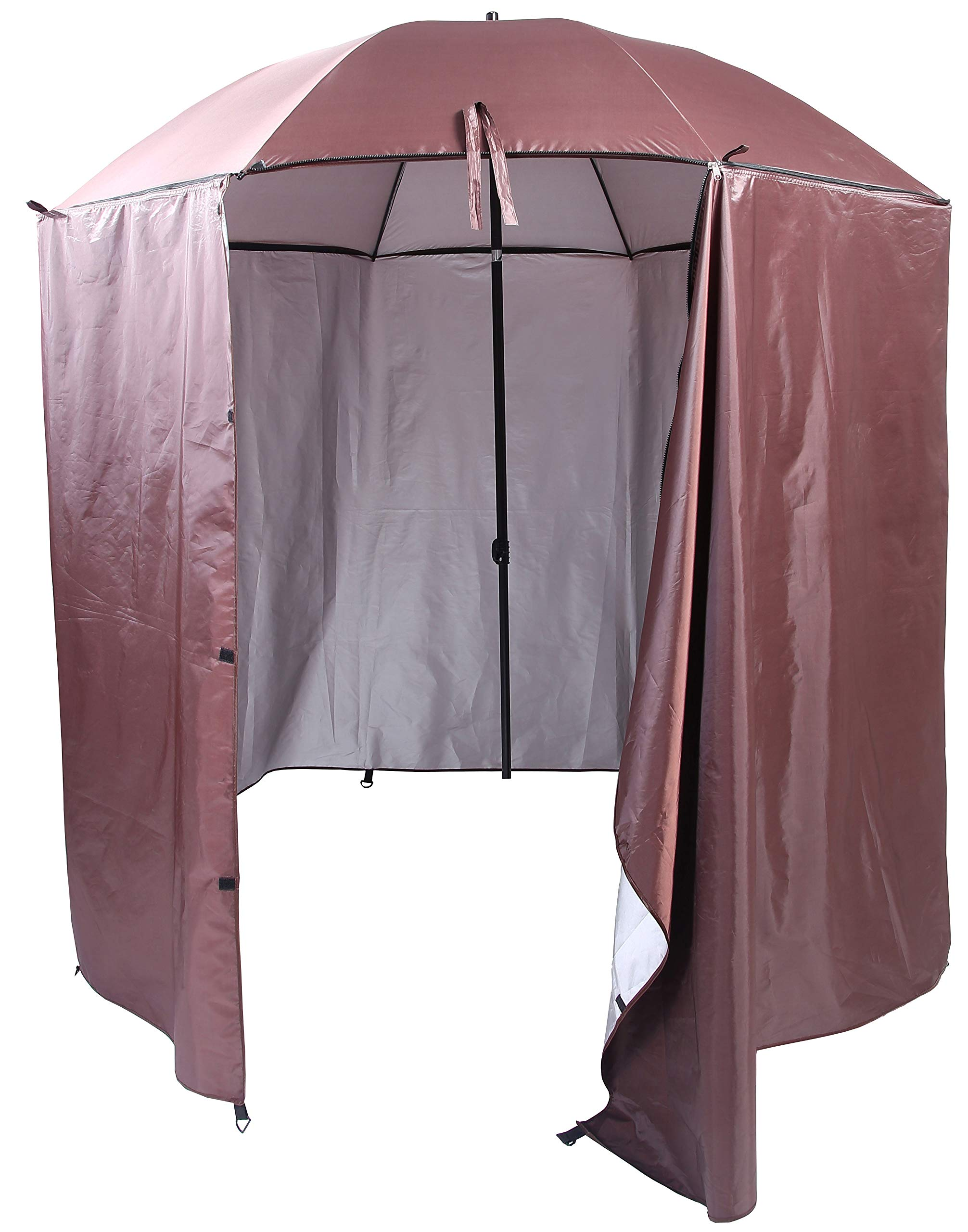 DDYOUTDOOR Portable Waterproof Camping Beach Fishing Picnic Shade Tent Canopy Umbrella Sunshade Cabana Sun Shelter (Coffee) by DDYOUTDOOR