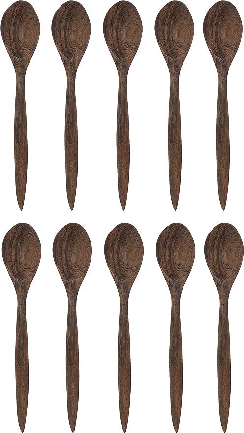 """24 en bois cuillères 9/"""" excellente qualité crafts cuisine cuillère"""