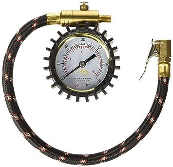 Rocky Creek motopressor Calibrador De Presión Neumático: Amazon.es: Coche y moto