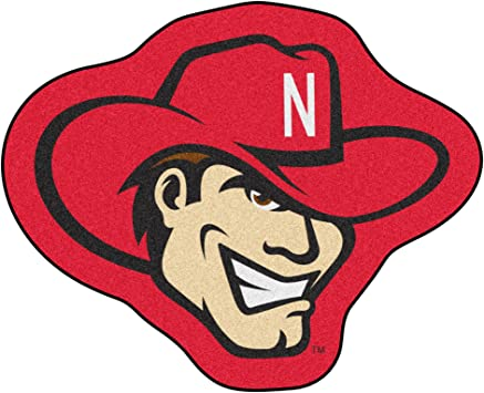 FANMATS NCAA University of Nebraska Cornhuskers Nylon Face Mascot Rug