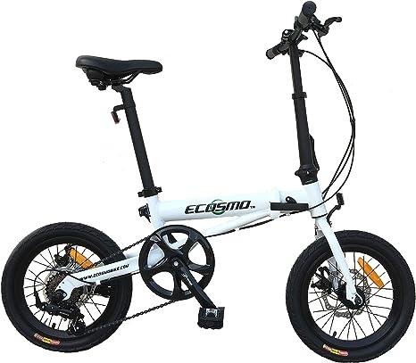 ECOSMO Bicicleta Plegable de aleación Ligera de 16 Pulgadas, 6 SP ...