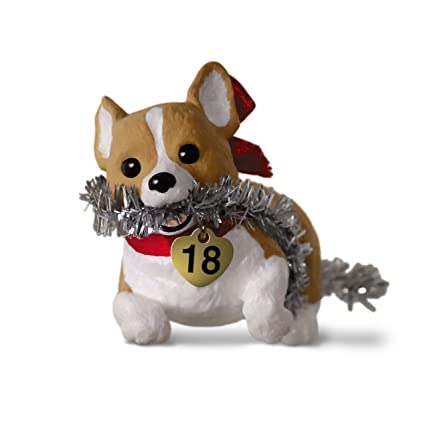 hallmark keepsake christmas ornament 2018 year dated puppy love welsh corgi - Corgi Christmas Ornaments