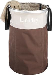 Whitmor Easycare Round Laundry Hamper Java