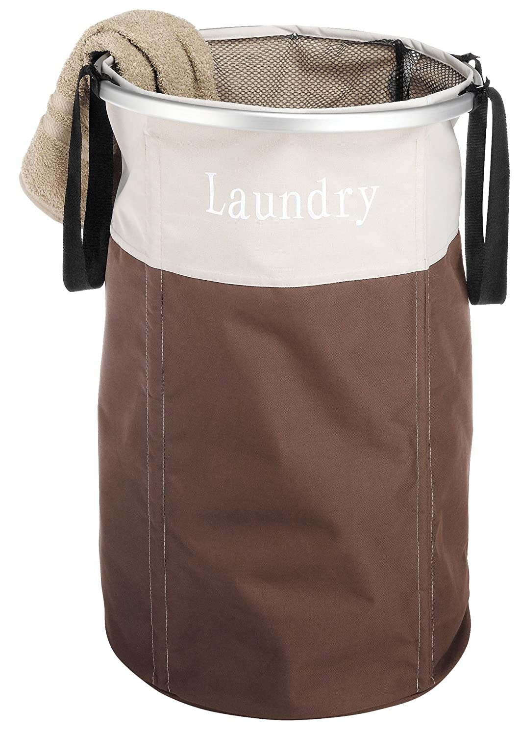 Amazon.com: Whitmor Easycare Round Laundry Hamper Java: Home & Kitchen