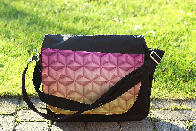 Epcot Spaceship Earth Messenger Bag Cross Body Laptop School Work Bag