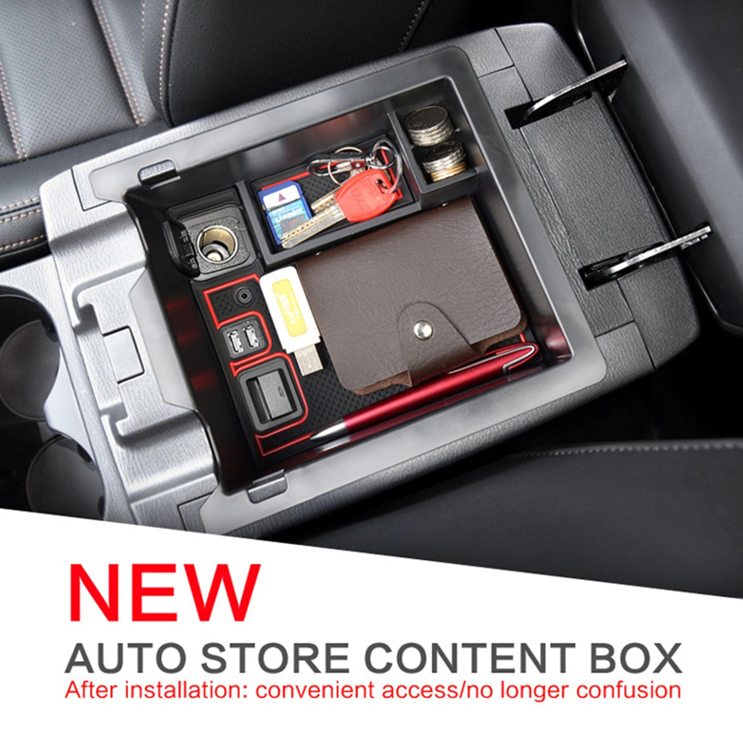 YEE PIN Centre Console Organizer Tray Armrest Tray for CX-5 2 KF SUV 2017-2019 Secondary Storage Box Insert Glove Compartment Car Accessories